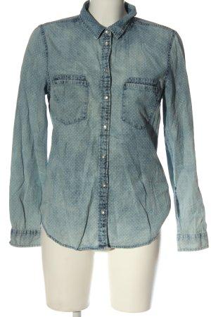 Vero Moda Jeansowa koszula niebieski Na całej powierzchni W stylu casual