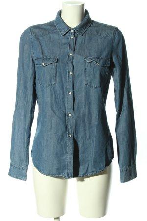 Vero Moda Chemise en jean bleu style décontracté