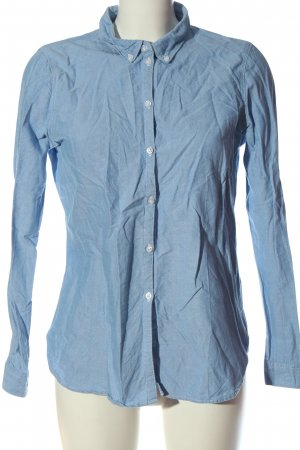 Vero Moda Denim Shirt blue weave pattern business style