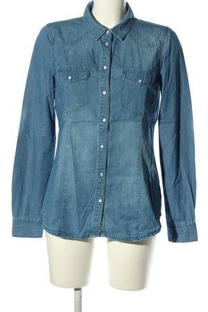 Vero Moda Jeansowa koszula niebieski W stylu casual