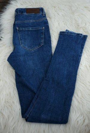 Vero Moda Broek met wijd uitlopende pijpen blauw-donkerblauw