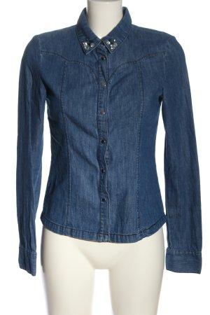 Vero Moda Spijkershirt blauw casual uitstraling