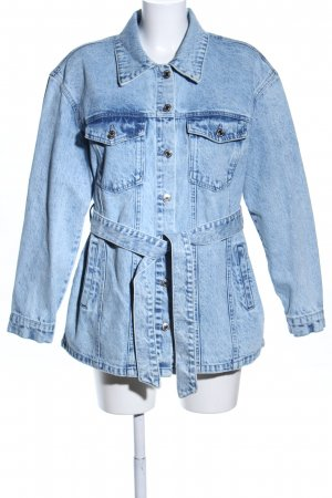 Vero Moda Jeansjacke blau Motivdruck Casual-Look
