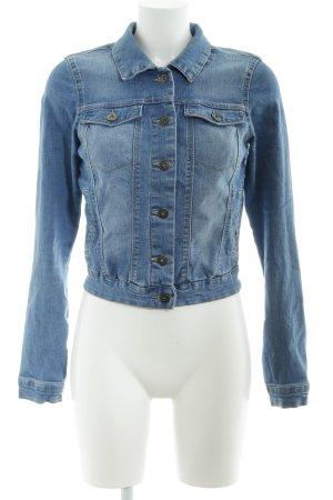 Vero Moda Jeansjacke stahlblau Casual-Look