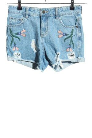 Vero Moda Jeansshorts blau Blumenmuster Casual-Look