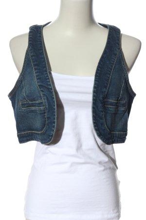 Vero Moda Gilet en jean bleu style décontracté