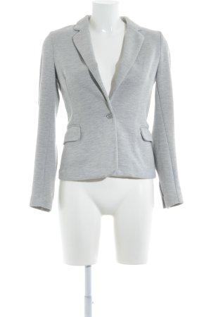 Vero Moda Blazer in jersey grigio chiaro-bianco puntinato stile professionale
