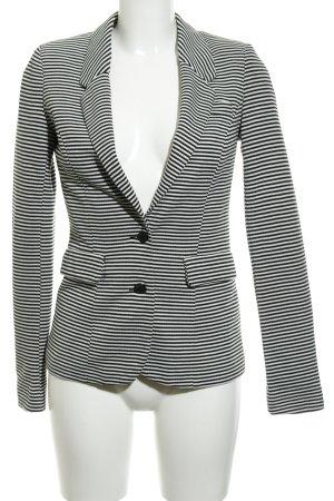 Vero Moda Blazer in jersey bianco-nero motivo a righe