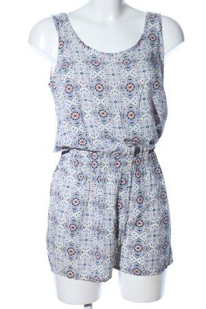 Vero Moda Jumpsuit weiß-blau abstraktes Muster Casual-Look