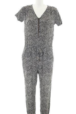 Vero Moda Jumpsuit schwarz-weiß Allover-Druck Casual-Look