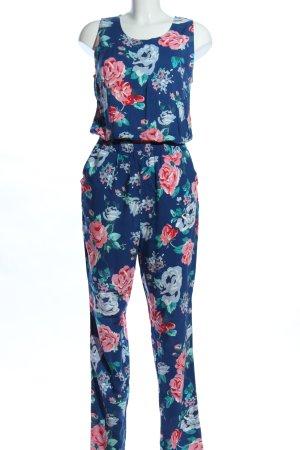 Vero Moda Jumpsuit blau-pink Allover-Druck Casual-Look