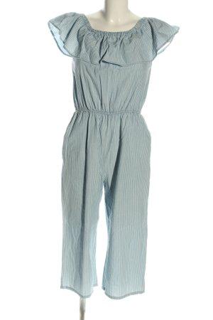 Vero Moda Jumpsuit blau-weiß Allover-Druck Casual-Look