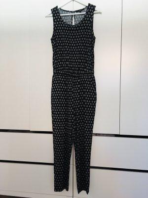 Vero Moda Jumpsuit, schwarz-weiß, o. Arm, Gr. S