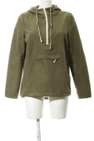 Vero Moda Kapuzenjacke khaki-creme sportlicher Stil
