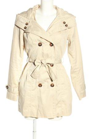 Vero Moda Hooded Coat cream casual look