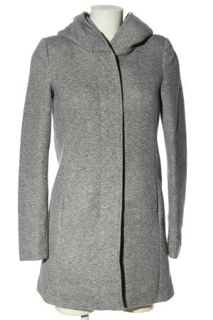 Vero Moda Hooded Coat light grey flecked casual look