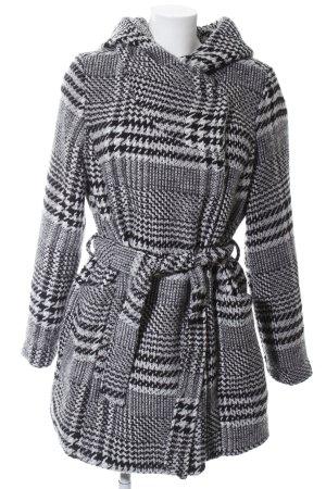 Vero Moda Manteau à capuche noir-blanc motif graphique style décontracté