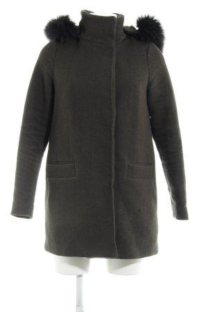 Vero Moda Kapuzenmantel khaki-schwarz Casual-Look