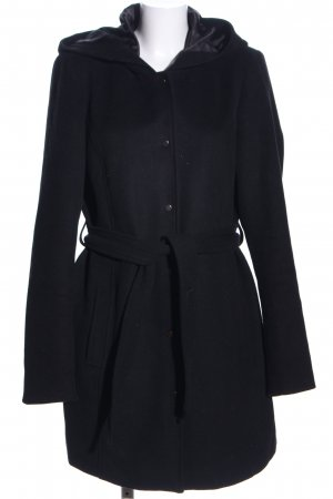 Vero Moda Hooded Coat black mixture fibre