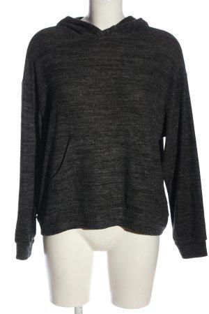 Vero Moda Felpa con cappuccio nero-grigio chiaro puntinato stile casual