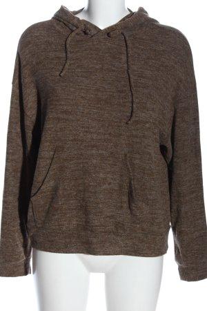 Vero Moda Kapuzensweatshirt braun meliert Casual-Look