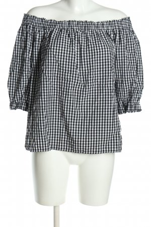 Vero Moda Blusa a cuadros negro-blanco look casual