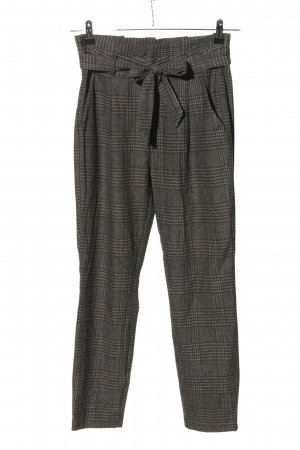 Vero Moda Peg Top Trousers light grey check pattern casual look