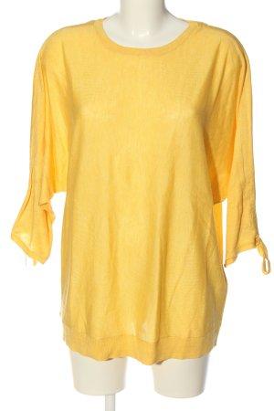 Vero Moda Kimono-Bluse blassgelb Zopfmuster Casual-Look