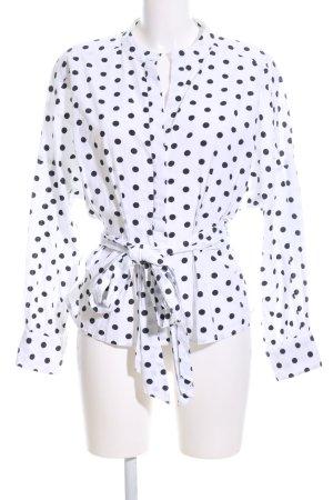 Vero Moda Kimono-Bluse weiß-schwarz Punktemuster Business-Look
