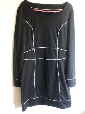 Vero Moda Vestido de manga larga negro-blanco