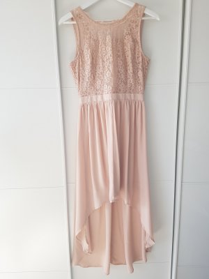 VERO MODA Kleid, festlich, rosé, mit Spitze, Vokuhila, Gr.S