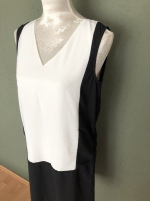 Robe tube blanc-noir