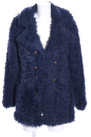 Vero Moda Chaqueta de piel sintética azul look casual