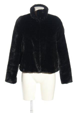 Vero Moda Kunstfelljacke schwarz Casual-Look