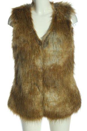 Vero Moda Fake Fur Vest bronze-colored casual look