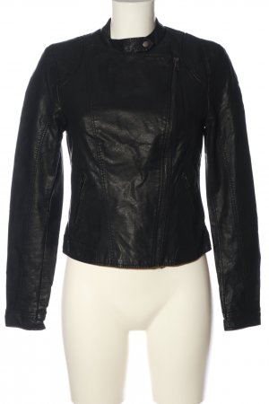 Vero Moda Veste en cuir synthétique noir style décontracté