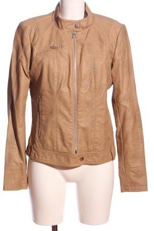 Vero Moda Faux Leather Jacket cream casual look