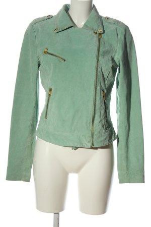 Vero Moda Kurtka z imitacji skóry zielony W stylu casual