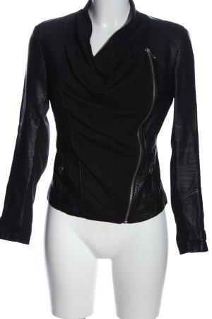 Vero Moda Kurtka z imitacji skóry czarny W stylu biznesowym