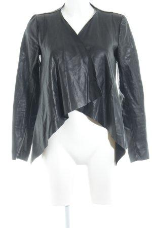 Vero Moda Kurtka z imitacji skóry czarny W stylu casual