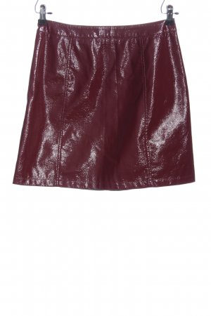 Vero Moda Kunstlederrock rot Elegant