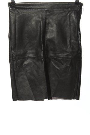Vero Moda Kunstlederrock schwarz Casual-Look