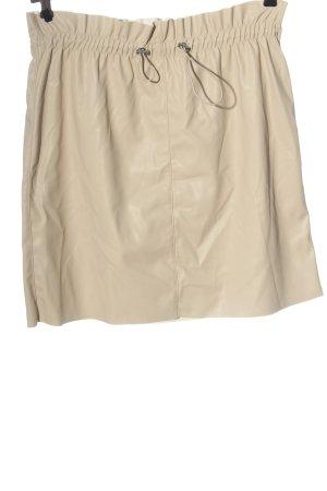Vero Moda Spódnica z imitacji skóry kremowy W stylu casual