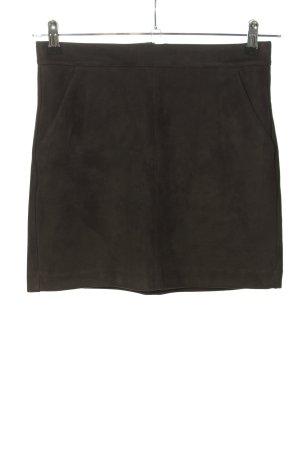 Vero Moda Falda de cuero de imitación negro look casual