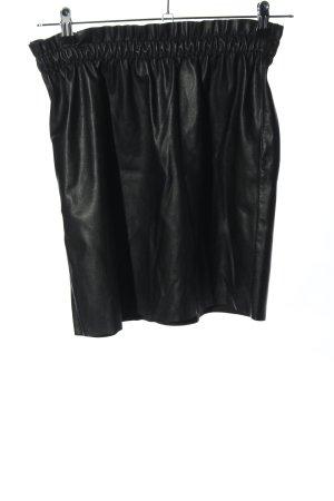 Vero Moda Rok van imitatieleder zwart casual uitstraling