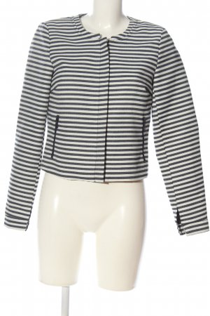 Vero Moda Kurz-Blazer weiß-schwarz Streifenmuster Casual-Look