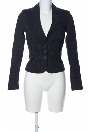 Vero Moda Kurz-Blazer schwarz Streifenmuster Business-Look