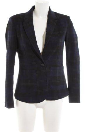 Vero Moda Blazer corto blu-nero motivo a quadri stile professionale