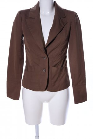 Vero Moda Blazer corto marrone motivo a righe stile professionale