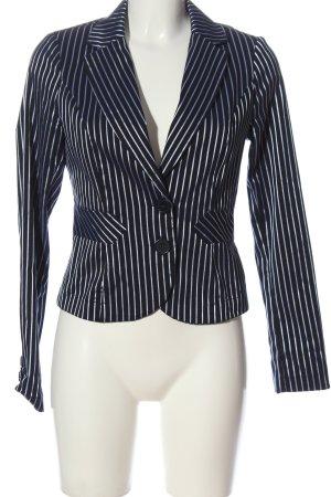 Vero Moda Kurz-Blazer weiß-blau Allover-Druck Business-Look